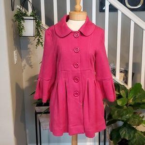 Luii Pleated Pea Coat